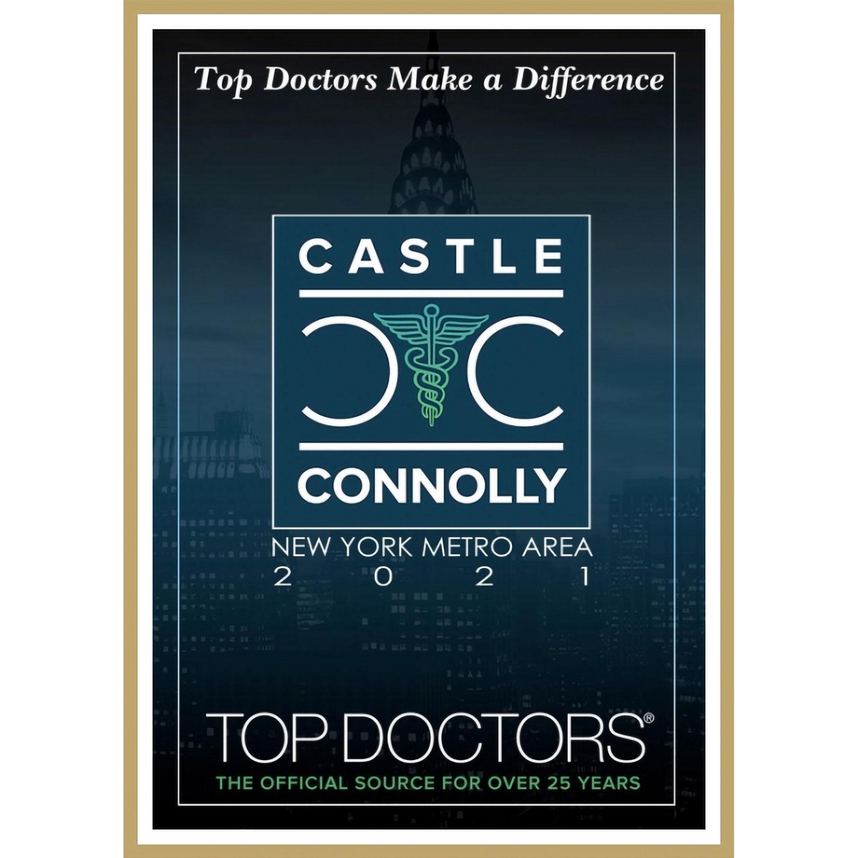 Castle Connolly Top Doctors NY Metro Area - 2021