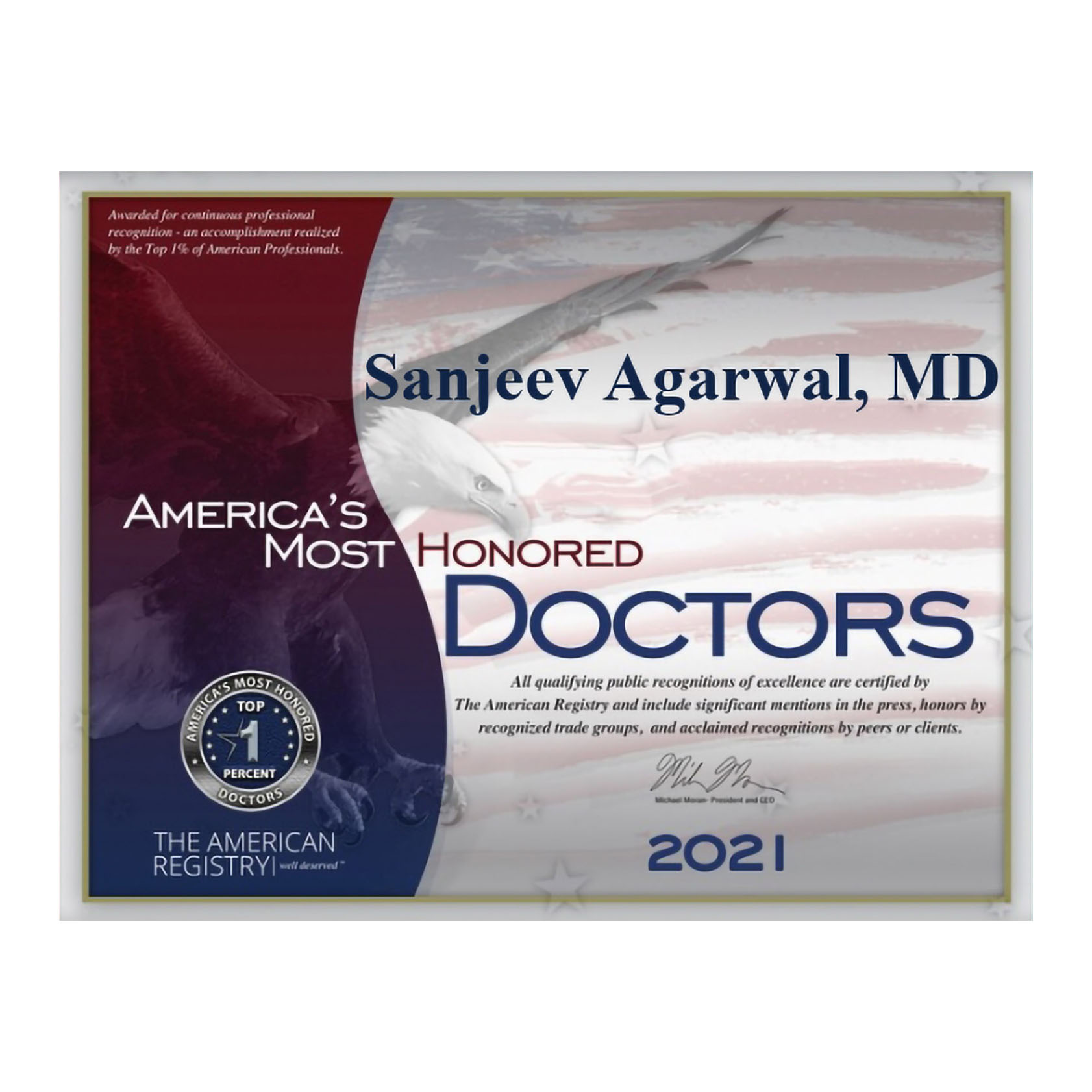 America's Most Honored Doctors - 2021