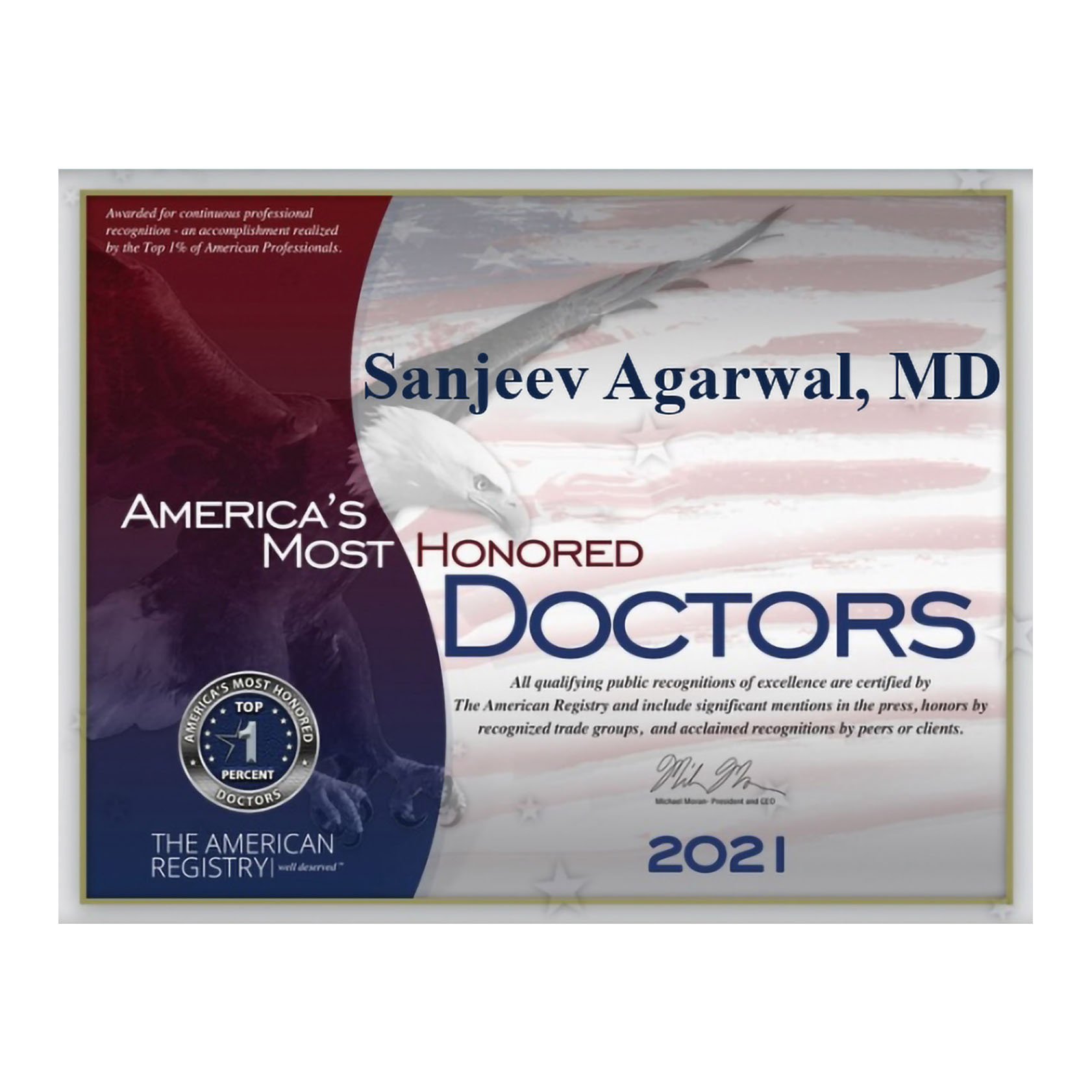 America's Most Honored Doctors 2021